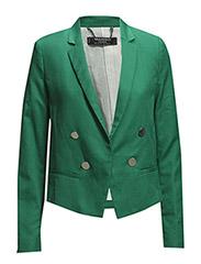 Linen cotton-blend blazer - Bright green