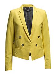 Linen cotton-blend blazer - Yellow