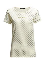 Candy print logo t-shirt - Natural white