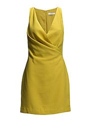 Draped dress - Bright yellow