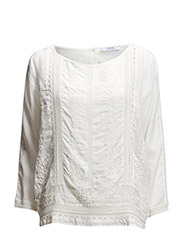 Embroidered modal blouse - Natural white