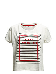Cotton message t-shirt - Natural white