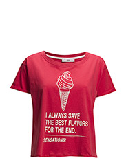 Cotton message t-shirt - Red