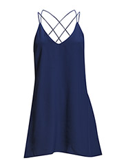 Strap dress - Medium blue