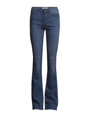 Flared Flare Jeans - Open blue