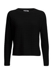 Square textured sweater - Black