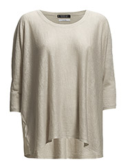 Wide linen sweater - Lt pastel brown