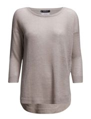 Knit linen sweater - Lt pastel brown