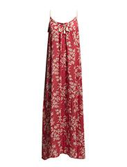 Floral long dress - Medium pink
