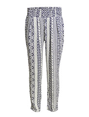 Mosaic baggy trousers - Navy