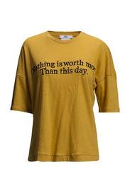 Linen cotton-blend t-shirt - Medium yellow