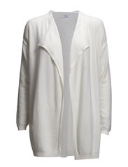 Waterfall wool-blend cardigan - Light beige