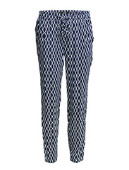Baggy mosaic trousers - Navy