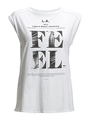 Printed cotton t-shirt - White
