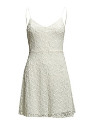 Embroidered dress - Natural white