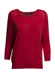Open-knit sweater - Bright red