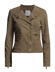 Peccary biker jacket - Light beige