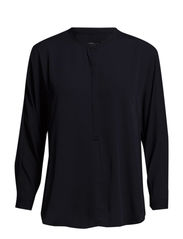 Buttoned flowy blouse - Navy