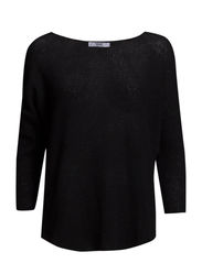 Metallic finish sweater - Black