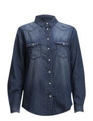Medium denim shirt - Open blue