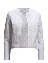 Embroidered cotton jacket - Natural white