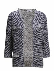 Frayed edges cardigan - Navy