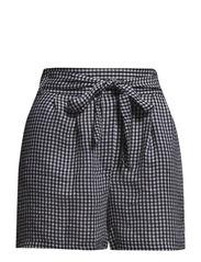 Gingham check bermuda shorts - Black