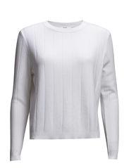 Stripe pattern sweater - Natural white