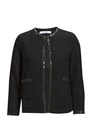 Bead cotton jacket - Black
