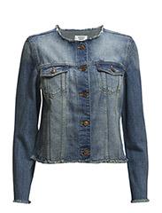 Medium denim jacket - Open blue
