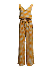 Bow printed jumpsuit - Medium yellow
