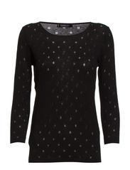 Polka-dot pattern sweater - Black