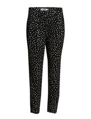 Circle print trousers - Black