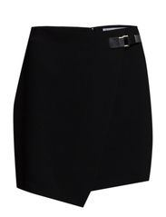 Buckle wrap skirt - Black