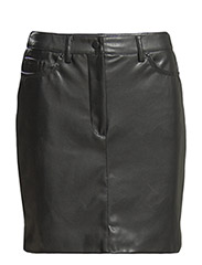 Faux-leather skirt - Black