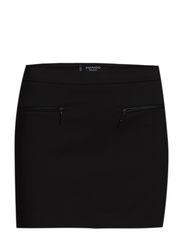 Decorative zip skirt - Black