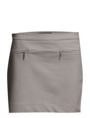 Decorative zip skirt - Lt pastel grey