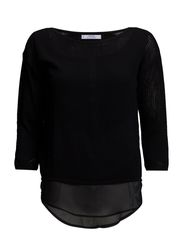 Mixed sweater - Black