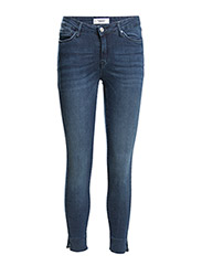 Cropped skinny-fit Audrey jeans - Open blue