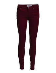 Skinny Lectra jeans - Dark red