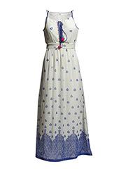 Printed beaded dress - Medium blue