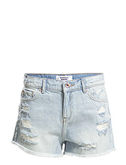 Light wash denim shorts - Open blue