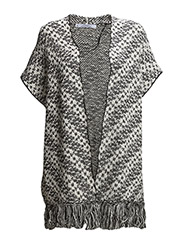 Cotton jacquard caftan - Light beige