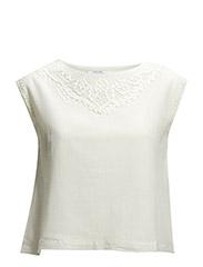 Openwork cotton top - Natural white