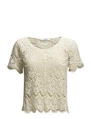Crochet t-shirt - Light beige