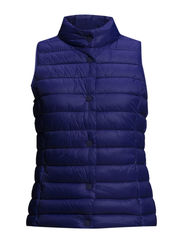 Water-repellent foldable gilet - Bright blue
