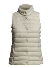 Water-repellent foldable gilet - Natural white