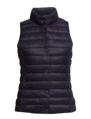 Water-repellent foldable gilet - Navy