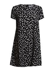 Circle print dress - Black