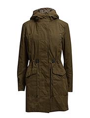 Military hooded coat - Medium green